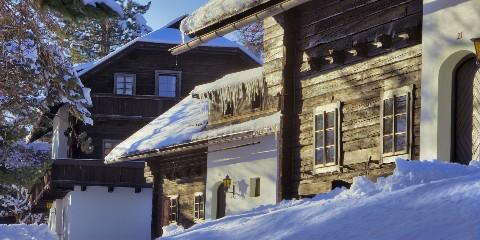 Winter im Dorf Schönleitn